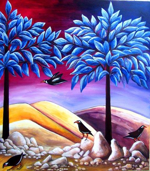 מיינות- דבורה אזולאי - ציירת