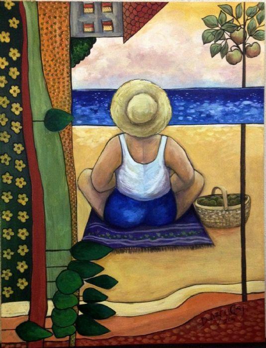 מול הים - דבורה אזולאי - ציירת