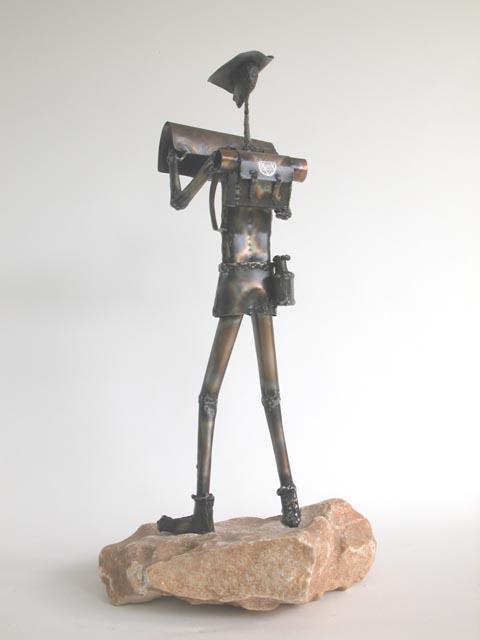 המדריך - צבי זגגי - פסל