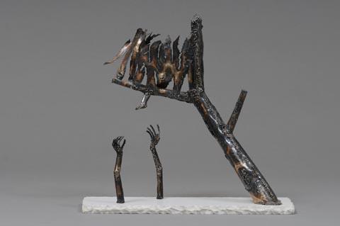חרדות - צבי זגגי - פסל