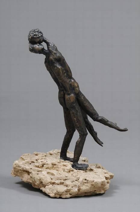 מלח וסירונית 2 - צבי זגגי - פסל
