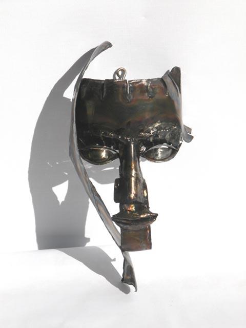 מסכת נערה - צבי זגגי - פסל