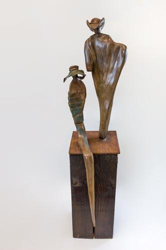 בוני וקלייד - אניטה בירקנפלד - פסלת