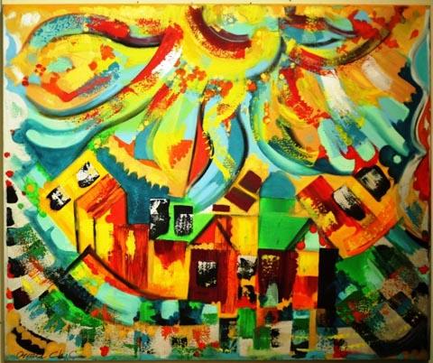 HAPPY AUGUST - אורנה שיק - ציירת