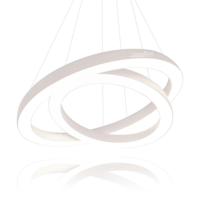 גוף תאורה יוקרתי דונאט בצורת שתי טבעות משולבות