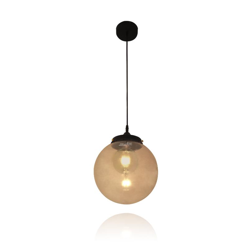 גוף תאורה כדור זכוכית דקורטיבי תלוי מוזהב