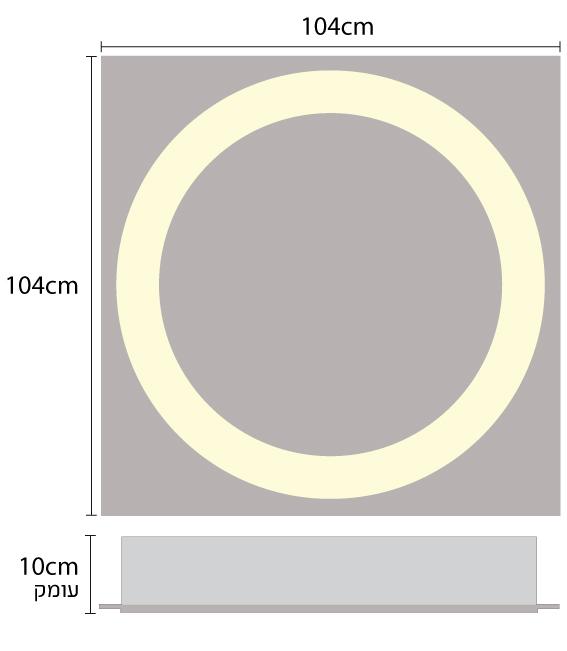 גוף תאורה מעוצב שקוע תקרה לתאורת משרדים