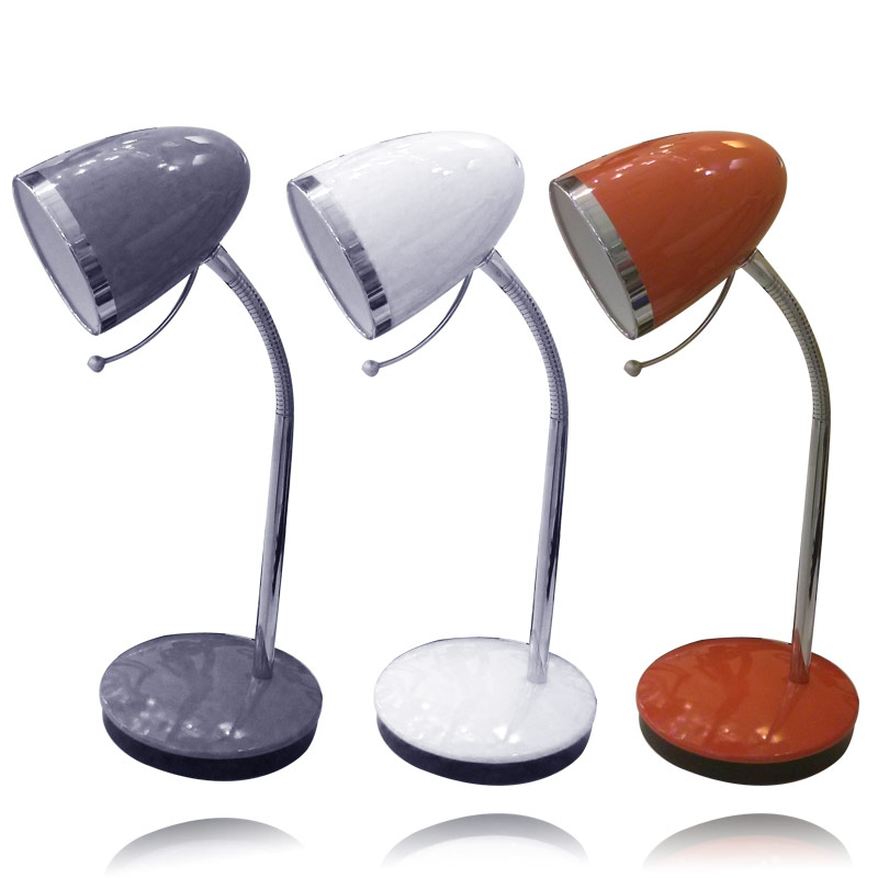 מנורת שולחן בשלושה צבעים