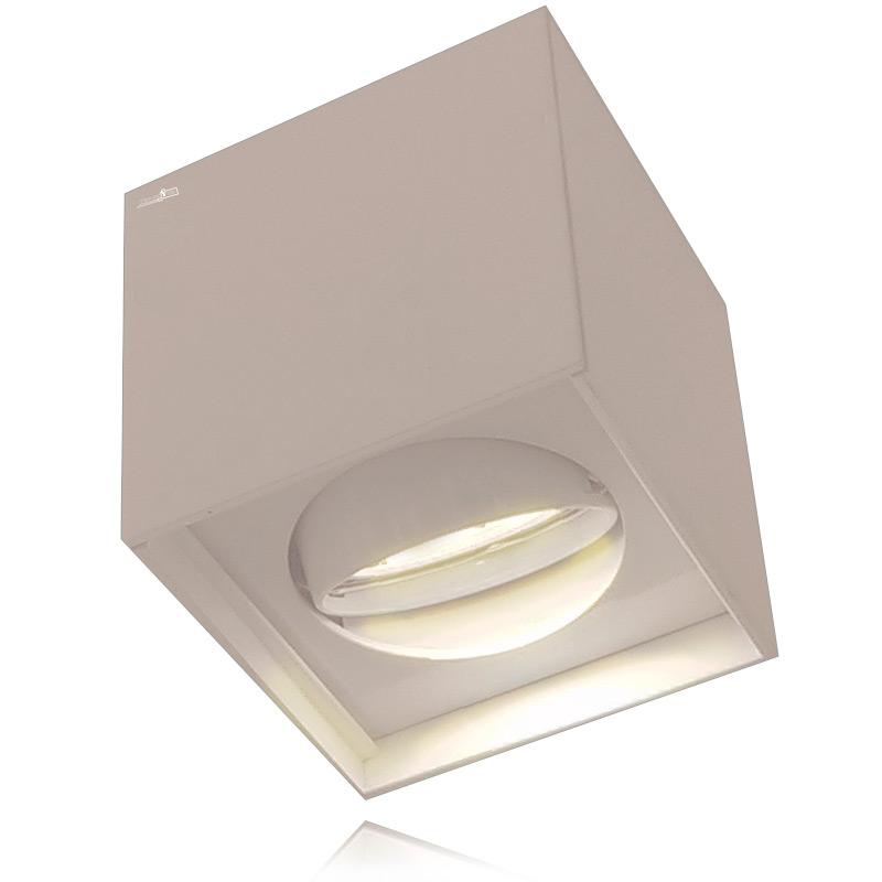 גוף תאורה מתכוונן בצורת קוביה