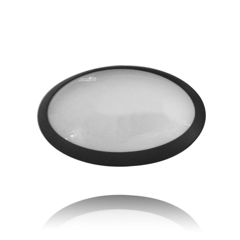 מנורת קיר בצורת אליפסה שחורה או לבנה