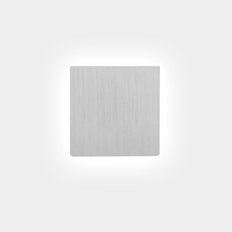 גוף תאורה דו כיווני קטן כסוף