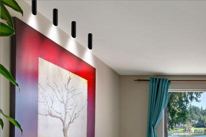 תאורה לתקרה בצורת גליל