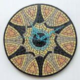 שעון פסיפס אבן ליוסי ---נמכר-- Stone mosaic Ǿ30
