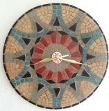 שעון פסיפס - אופירה ---הוזמן ונמכר--- אבן Stone mosaic Ǿ30