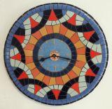 שעון פסיפס לפיליס אבן וקרמיקה ---הוזמן ונמכר--- Stone and ceramic mosaic Ǿ30