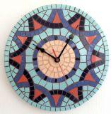 שעון פסיפס ליריב קרמיקה ---מתנה--- Ceramic mosaic Ǿ30