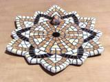 אמונה - פסיפס אבן ---מתנה--- - Faith - Stone mosaic Ǿ25