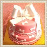 עוגת בת מצווה עם סרט לבן