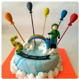 עוגה עם קשת בענן וילד