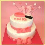 עוגת בת מצווה עם מחבט טניס