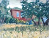 ADOBE HOUSE   -   OILS  40 X 50 CMS