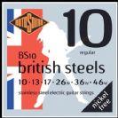 מיתרים  לחשמלית 0.10 רוטוסונד   ROTOSOUND   BRITISH STEEL BS10
