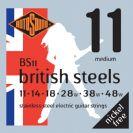 סט מיתרים לחשמלית 0.11 רוטוסונד ROTOSOUND BRITISH STEEL BS11