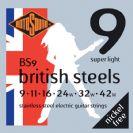 סט מיתרים  לחשמלית  0.09 רוטוסונד  ROTOSOUND BRITISH STEEL BS9