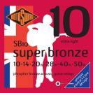 סט מיתרים  0.10 לאקוסטית רוטוסונד  ROTOSOUND   SUPER BRONZE  SB10