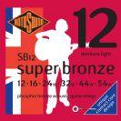 סט מיתרים 0.12 לאקוסטית רוטוסונד   ROTOSOUND  SUPER BRONZE  SB12