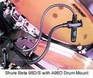 מיקרופון קונדנסר אינסטרומנטלי שור  SHURE Beta98D/S