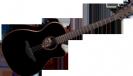 גיטרה אקוסטית לג  מוגברת שחורה LAG T100ACE-BLK
