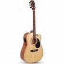 גיטרה אקוסטית מוגברת קורט  CORT AD880CE NATURAL