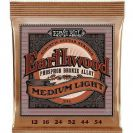 מיתרים ארני בל  ERNIE BALL  2146 Earthwood Phosphor Bronze  Acoustic 12-54
