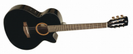 גיטרה קלאסית מוגברת קורט  CORT CEC-3BKS