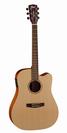 גיטרה אקוסטית  מוגברת+נרתיק  קורט CORT MR GRAND CUT AWAY NAT
