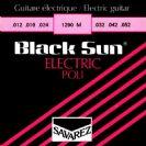סט מיתרים לגיטרה חשמלית סברז 010  SAVAREZ Black Sun   S2250