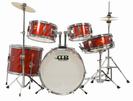 """סט תופים 5 חלקים אדום בס 16"""" דיבי פרקשן   DB Percussion DBJ50 WR"""