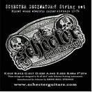 סט מיתרים  לגיטרה חשמלית שכטר SCHECTER  Decimators 8-string Set