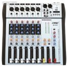 מיקסר 6 ערוצים  עם אפקט לשירה  BTS  MX-600 MP3  Delay / Echo