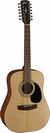 גיטרה אקוסטית מוגברת  קורט 12 מיתרים CORT AD810-12E