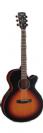 גיטרה אקוסטית מוגברת קורט  CORT SFX-E 3TSS