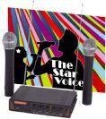 ערכת קריוקי, 2 מיקרופונים אלחוטיים Professional Audio The Star Voice VHF-302