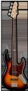 גיטרה בס ESP LTD J-204 3TB