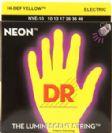 מיתרים לגיטרה חשמלית DR Strings DR NYE9 Neon HiDef Yellow
