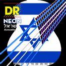 מיתרים לגיטרה אקוסטית כחול-לבן DR NEON Acoustic 11-50