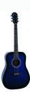 גיטרה אקוסטית כחולה  אומגה OMEGA FG-410-S-BLS