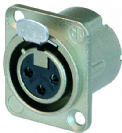 מחבר נויטריק  NEUTRIK  NC3FD-L-1-B  CONNECTOR, XLR, JACK, 3 POSITION