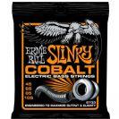 מיתרים לבס ארני בל ERNIE BALL 2733 Cobalt Hybrid  Slinky Bass 45-105