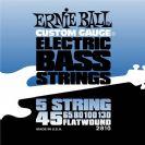 מיתרים לבס ארני בל ERNIE BALL 2810 Flatwound Bass 5-String 45-130